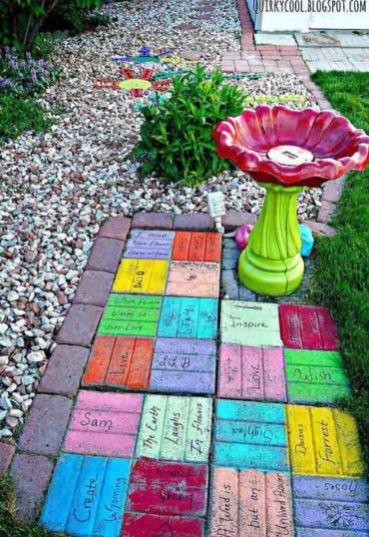 Cute and cool garden art for kids design ideas 04