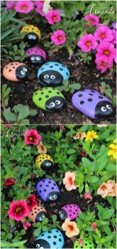 Cute and cool garden art for kids design ideas 25