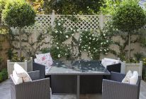 Cute and simple tiny patio garden ideas 49