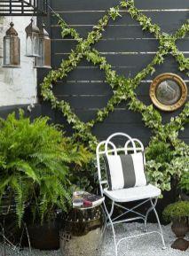 Cute and simple tiny patio garden ideas 66