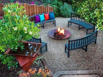 Cute and simple tiny patio garden ideas 68
