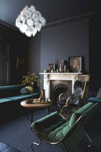 Dark green living room furniture 12