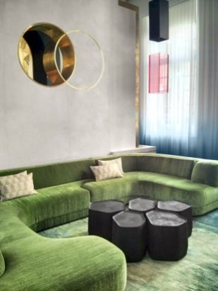 Dark green living room furniture 21