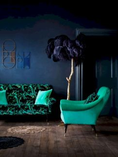 Dark green living room furniture 28