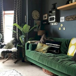 Dark green living room furniture 41