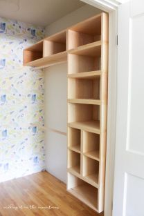 Easy and affordable diy wood closet shelves ideas 07