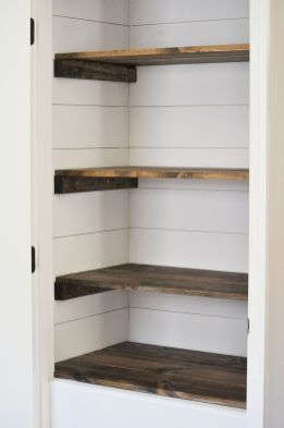 Easy and affordable diy wood closet shelves ideas 09