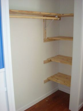 Easy and affordable diy wood closet shelves ideas 18