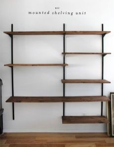 Easy and affordable diy wood closet shelves ideas 35