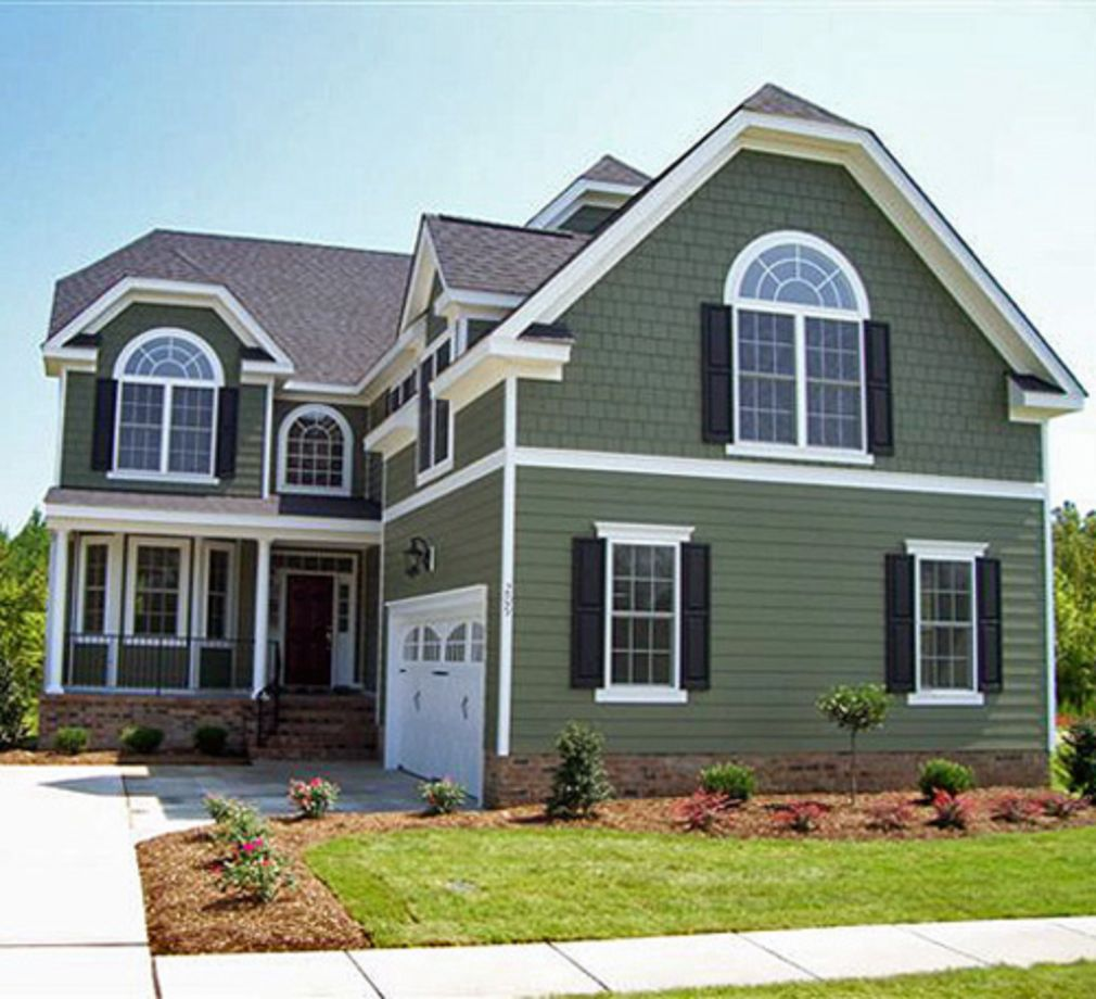 Exterior house colors with brown roof 01