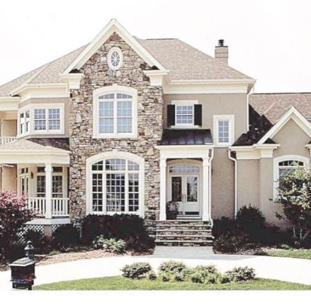 Exterior house colors with brown roof 05