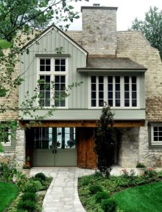 Exterior house colors with brown roof 16