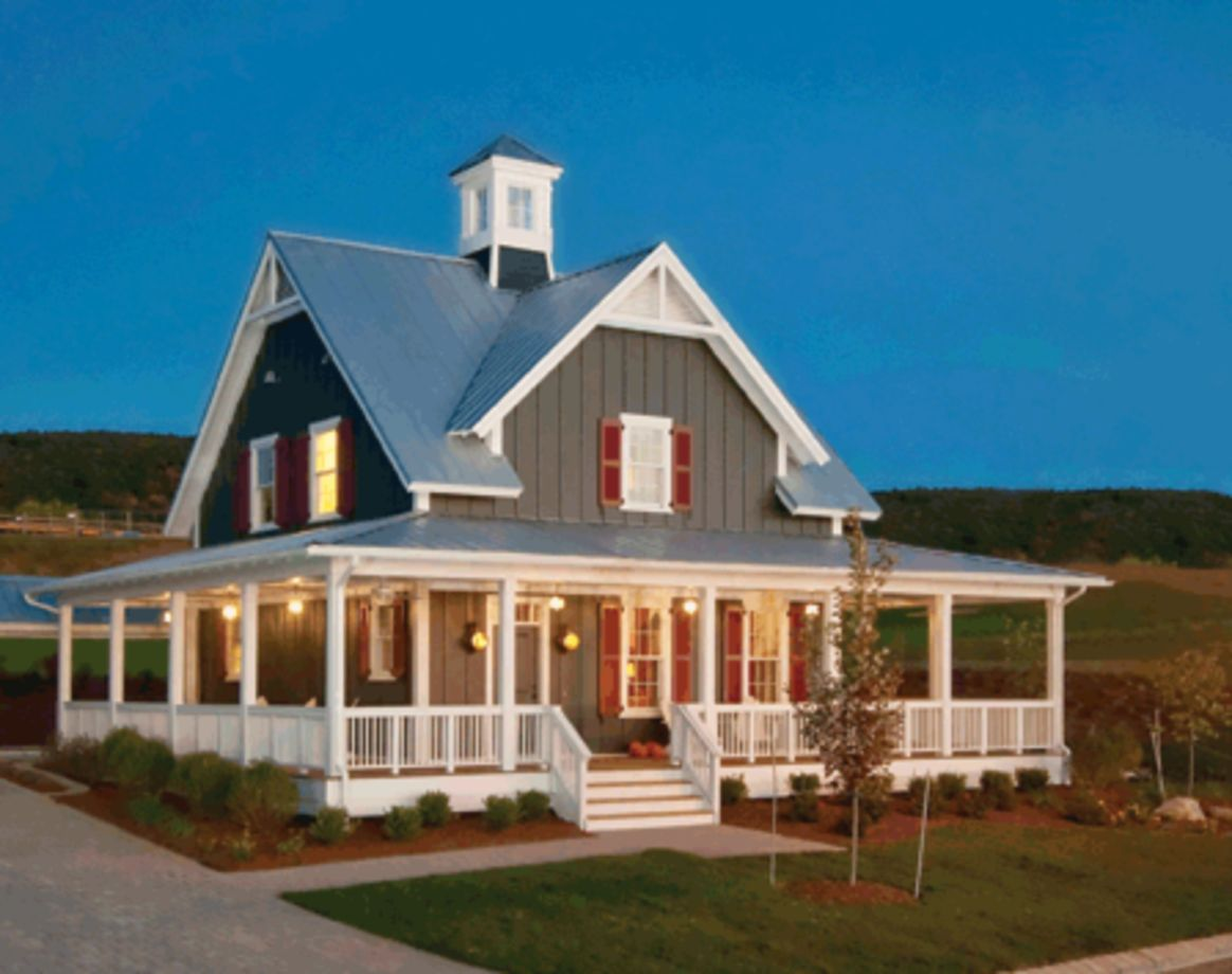 Exterior house colors with brown roof 20