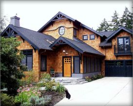 Exterior house colors with brown roof 26