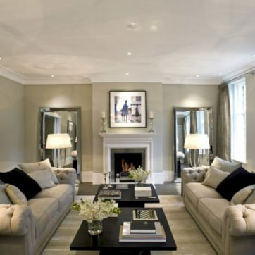 Furniture placement ideas with fireplace 01