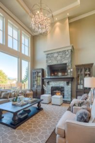 Furniture placement ideas with fireplace 04