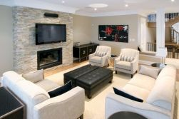 Furniture placement ideas with fireplace 06