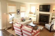 Furniture placement ideas with fireplace 11