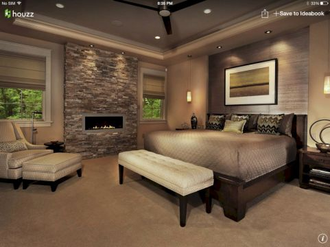 Furniture placement ideas with fireplace 15