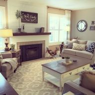 Furniture placement ideas with fireplace 25