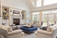 Furniture placement ideas with fireplace 26