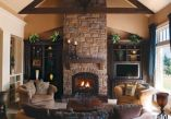Furniture placement ideas with fireplace 30