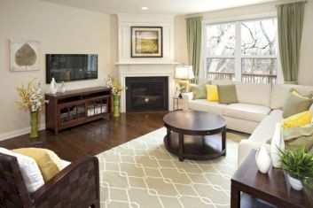 Furniture placement ideas with fireplace 32