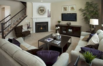 Furniture placement ideas with fireplace 33