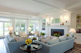 Furniture placement ideas with fireplace 43