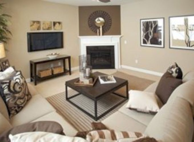 Furniture placement ideas with fireplace 55