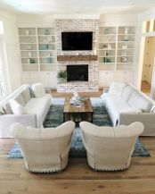 Furniture placement ideas with fireplace 57