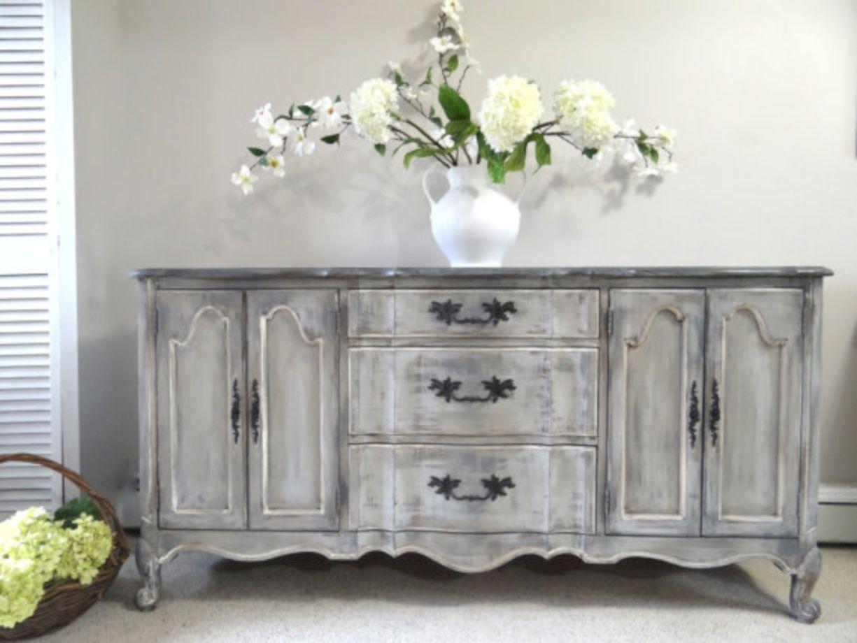Gray shabby chic furniture 54