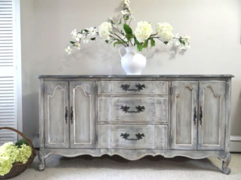 Gray shabby chic furniture 54