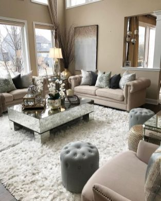 Incredible teal and silver living room design ideas 03