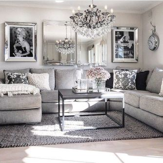 Incredible teal and silver living room design ideas 10