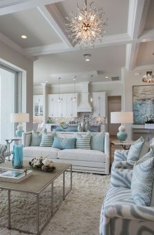 Incredible teal and silver living room design ideas 32
