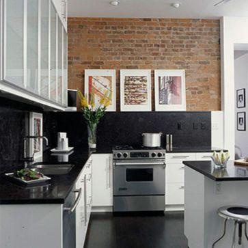 Inspiring black quartz kitchen countertops ideas 20