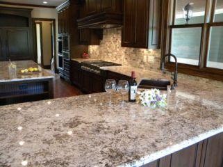 Inspiring black quartz kitchen countertops ideas 41