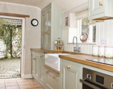 Modern cream painted kitchen cabinets ideas 01
