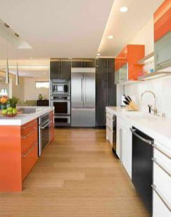 Modern cream painted kitchen cabinets ideas 02