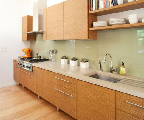 Modern cream painted kitchen cabinets ideas 06