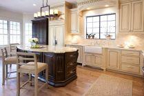 Modern cream painted kitchen cabinets ideas 08