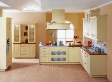 Modern cream painted kitchen cabinets ideas 10