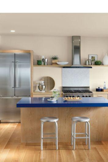 Modern cream painted kitchen cabinets ideas 15