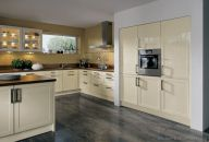 Modern cream painted kitchen cabinets ideas 25