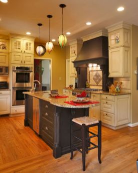Modern cream painted kitchen cabinets ideas 30