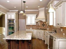Modern cream painted kitchen cabinets ideas 37