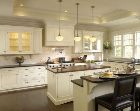 Modern cream painted kitchen cabinets ideas 39