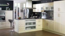 Modern cream painted kitchen cabinets ideas 48