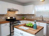 Modern cream painted kitchen cabinets ideas 53